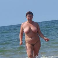 Horny Mature on The Nude Beach - Beach, Big Tits, Mature