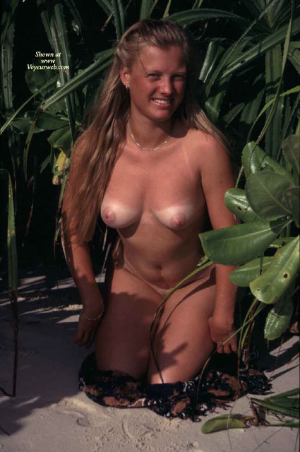 Pic #1 - Kneeling Frontal Nude Outdoors - Brown Hair, Large Aerolas, Long Hair, Tan Lines, Naked Girl, Nude Amateur , Naked In Shrubs With Tanlines, Hair Cascading Over Her Shoulder, Large Pink Areolas, Medium Sized Breasts, Nude Beach Girl, Stripping In The Undergrowth, Medium Sized Areolas And Nipples, Smiling To Camera
