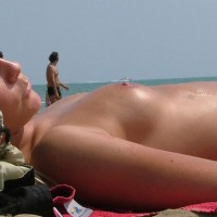 Topless Beach Beauty - Blonde Hair, Small Tits, Topless Beach, Topless, Beach Tits, Beach Voyeur, Sexy Boobs, Sexy Girl