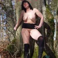 Tini in The Forest - Brunette, Big Tits, Nature