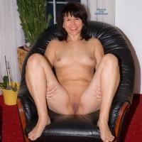 Open Legs - Brunette, Shaved