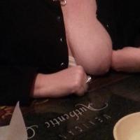 Medium tits of my wife - Cat