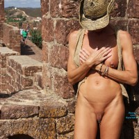 Bexx at Castle - Public Exhibitionist, Public Place
