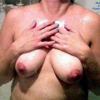 Milf in The Shower - Big Tits, Wet