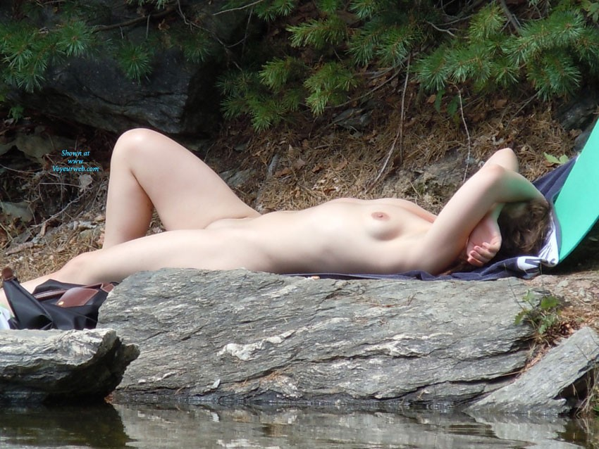 Sunbathing naked