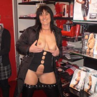 Tini's First NIP - Brunette, Public Exhibitionist, Public Place