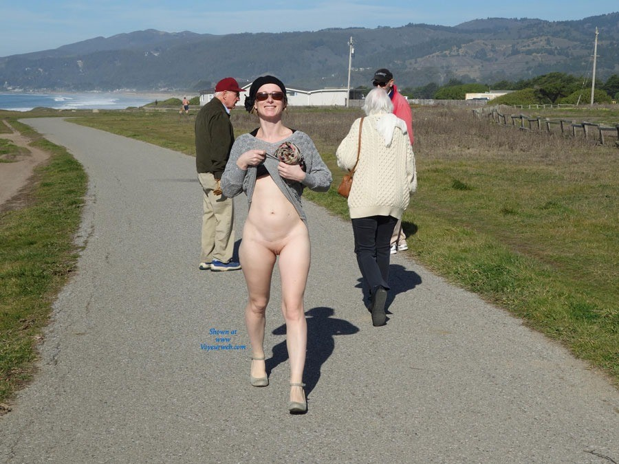 Pic #3 Walking By The Sea - Public Exhibitionist, Public Place