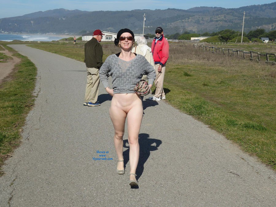 Pic #4 Walking By The Sea - Public Exhibitionist, Public Place