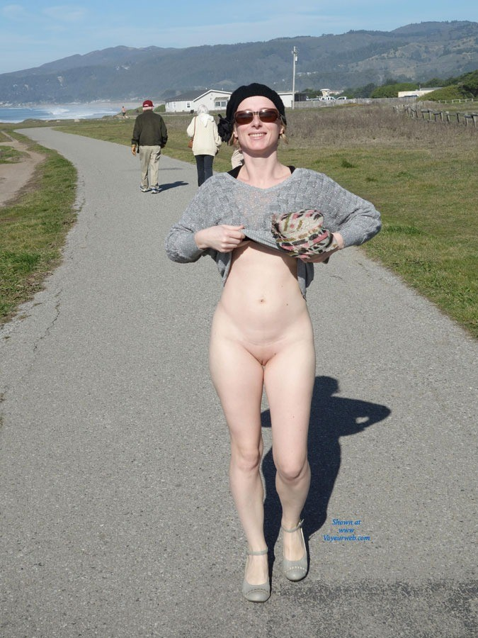 Pic #6 Walking By The Sea - Public Exhibitionist, Public Place