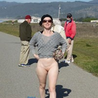Walking By The Sea - Exposed In Public, Nude In Public