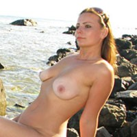 On The Beach - Brunette Hair, Beach Voyeur