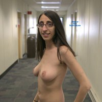 Maria Flashes a College Campus - Big Tits, Brunette, Public Exhibitionist, Public Place