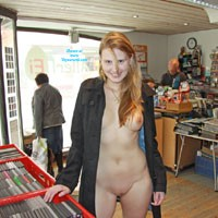 Bri On Shopping Tour - Public Exhibitionist, Public Place, Flashing