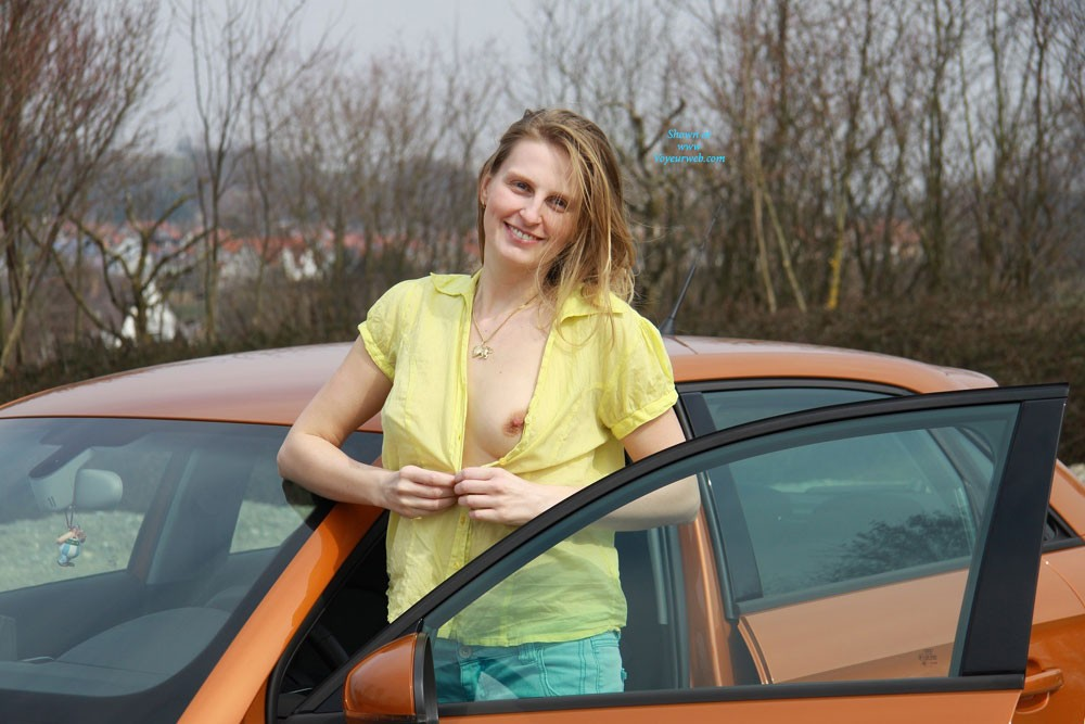 "Bri With Her New Car , The Special Theme ""Car Shots"" Gave Us The Idea For This Set Of Photos With Bri's New Car. She Would Like To Share The Sexy Features Of The Car With You! ;)