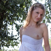Pantyless in Public - F/T - Blonde, Public Exhibitionist, Public Place