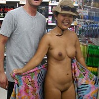 Fun Out Taking Naked Pics - Brunette Hair, Exposed In Public, Nude In Public