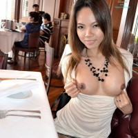 Flashing While Shopping in Hong Kong - Public Exhibitionist, Public Place, Asian