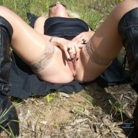 Out in The Park - Sexy Lingerie, Wife/Wives
