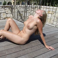Bri in the Castle Tower of Joy - Blonde, Outdoors