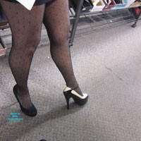 Trying on High Heels - Dressed, High Heels Amateurs, Public Place