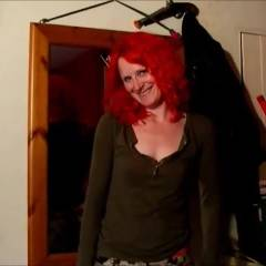 Daisy Striptease - Big Tits, Redhead, Striptease