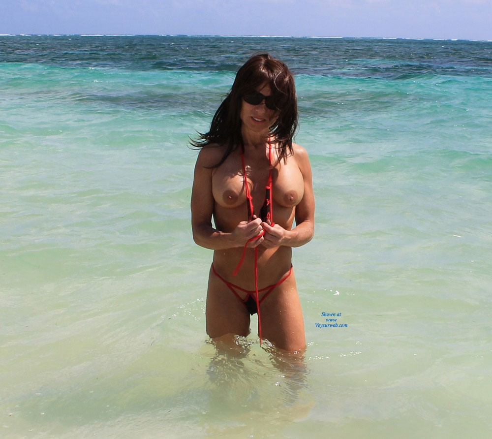 Pic #1 - Sexy Beach Shoot - Brunette Hair, Beach Voyeur , We Were On Vacation This Winter And Decided To Take Some Sexy Pics Along The Beach. The Beach Goers Seemed To Enjoy It As Much As I Did.