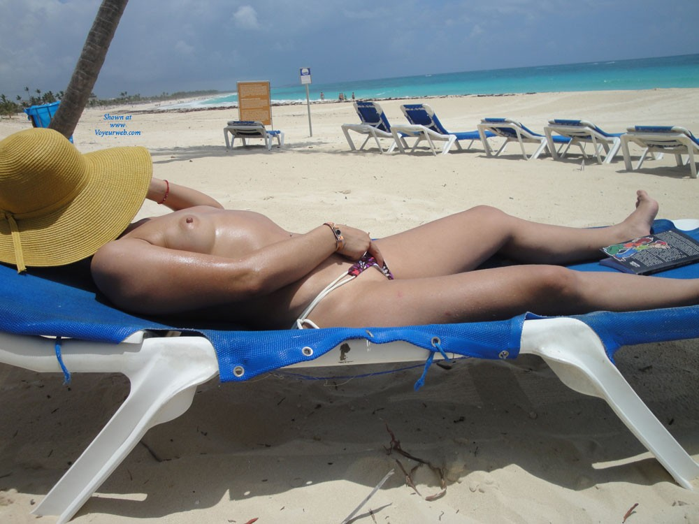 Pic #1 - Sunbathing - Beach Voyeur , A Beautiful Beach