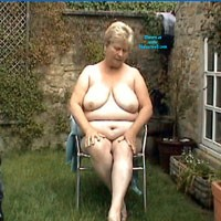 Garden Strip - Blonde, BBW