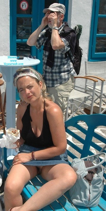 Upskirt in greece - 3 part 7