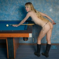 Billard - Blonde Hair , I Found An Old Billard Table And Gave It A Try