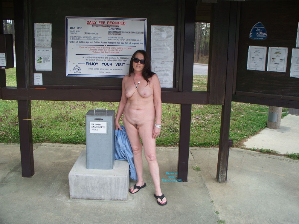 Pic #1 - Playing in Mississippi - Brunette Hair, Nude In Public