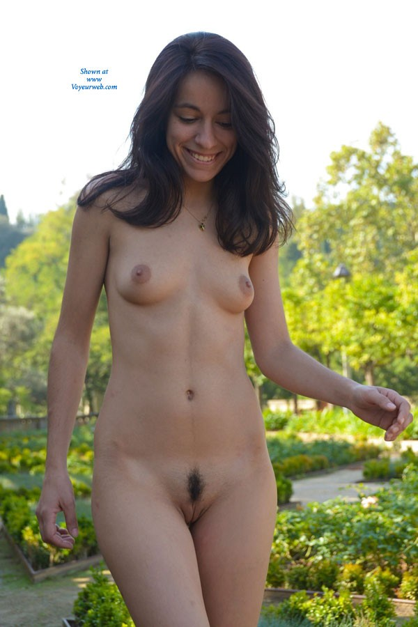 Pic #3 The Fountain - Brunette, Public Exhibitionist, Public Place