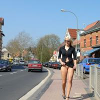 And Here We Go Again - Public Exhibitionist, Blonde, High Heels Amateurs