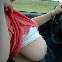Huge Tits in The Car - Big Tits