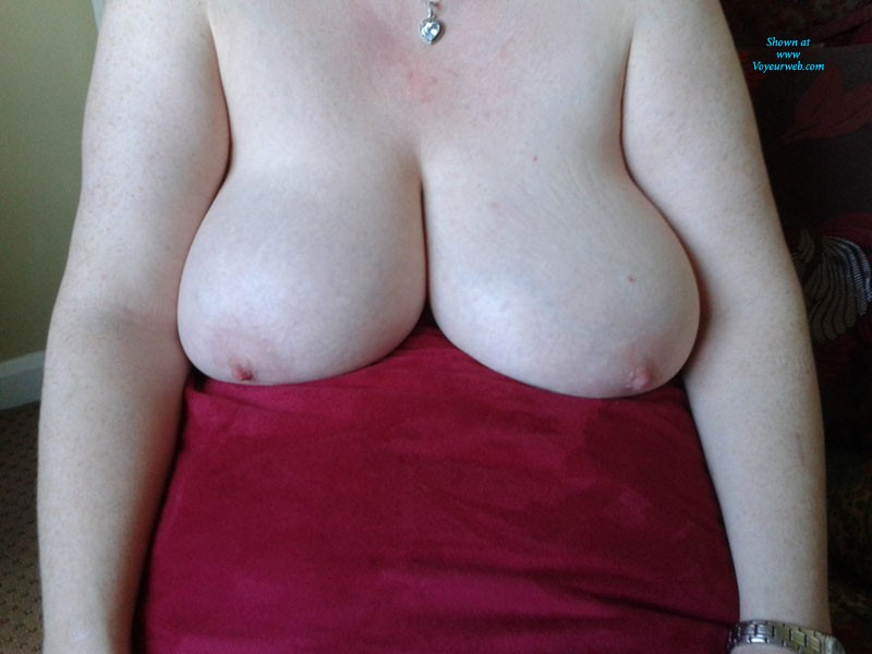 Pic #3 - White, Blue & Red - Big Tits