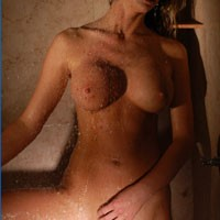 Stripping in Shower - Wet