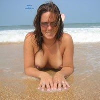 At a Secluded Beach - Big Tits, Beach Voyeur