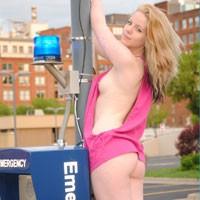 KC - Public Exhibitionist, Public Place, Small Tits