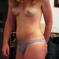 Medium tits of my wife - My slut!