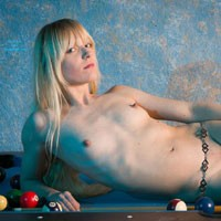 Billard Part Two - Blonde Hair , Some More Pictures With Patricia On The Billard Table