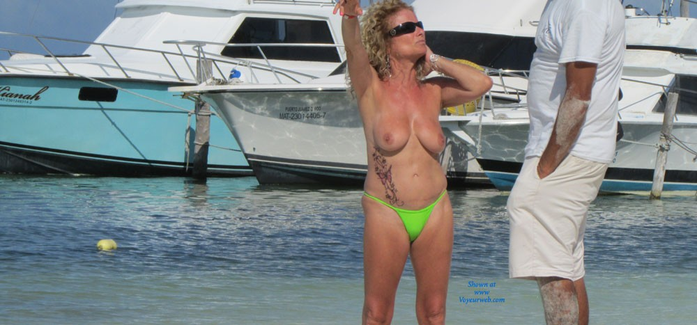 Pic #1 - Cancun - Beach Voyeur , While Staying At A Topless Optional Resort In Cancun, Observed These Beauties