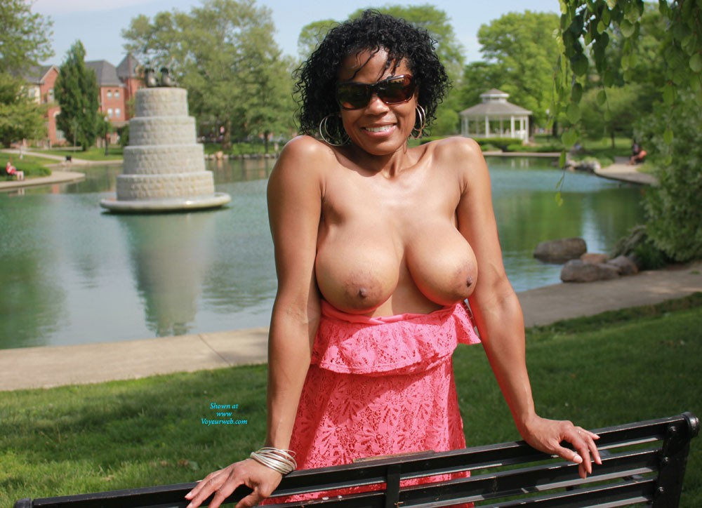 OHGIRL: Fun Parks - Big Tits, Brunette Hair, Exposed In Public, Nude In Public, Ebony , It Was Finally A Sunny And Beautiful Day, So Off We Went On A Tour Of Three Different Parks To Have A Little Fun. I Can't Wait Until The Weather Is Nice Every Day.