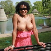 OHGIRL: Fun Parks - Big Tits, Brunette Hair, Exposed In Public, Nude In Public, Ebony
