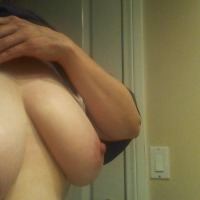 Very large tits of my wife - chix