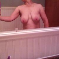 Medium tits of my girlfriend - Paula
