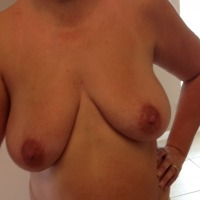 Extremely large tits of my wife