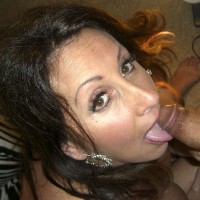 Two Desserts For The MILF - Brunette Hair, Blowjob