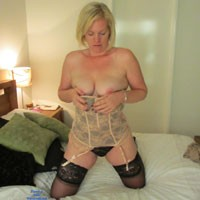 Undressing For My Hubby - Blonde, Lingerie, Striptease