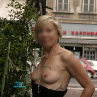Day at Vienna Naschmarkt - Blonde, Public Exhibitionist, Public Place