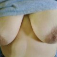 My very large tits - Sexy Wifes tits hanging